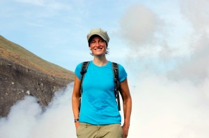 me in front of the volcano