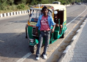 Ali with his Rickshaw